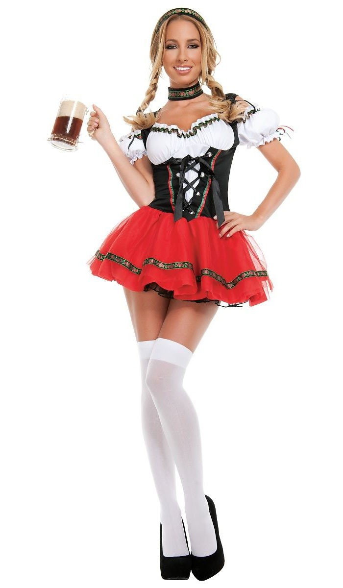 sexy frisky dirndl oktoberfest kleidung. Black Bedroom Furniture Sets. Home Design Ideas