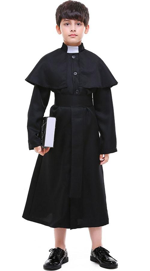 Hochwürden Kostüm für Kinder Priesterkostüm Papst Kostüm