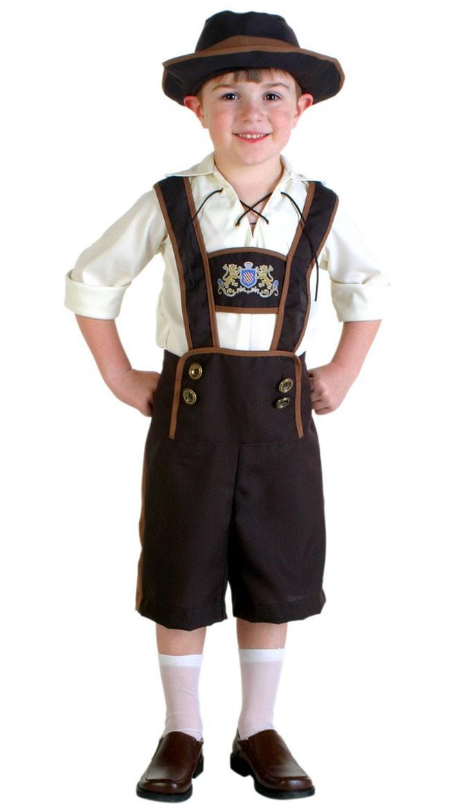 Bayern Oktoberfest Lederhose Kostüm für Kinder