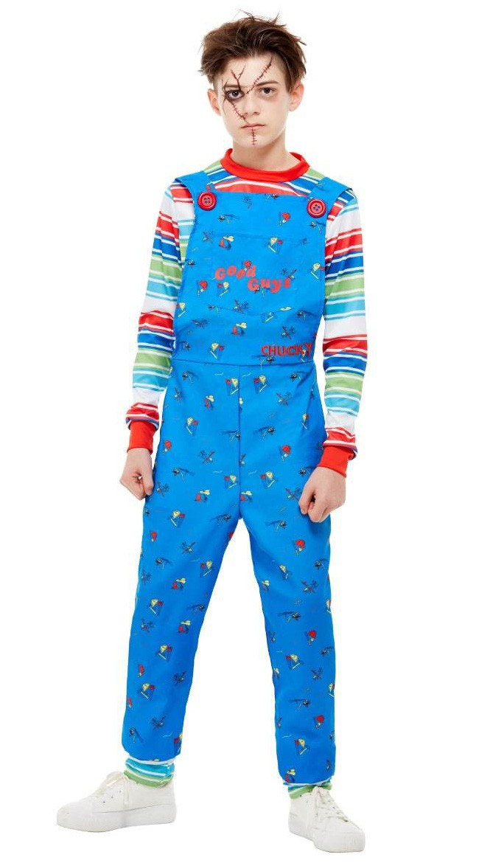 Jungen Chucky Kostüm Kinder Karneval Halloween Kostüme