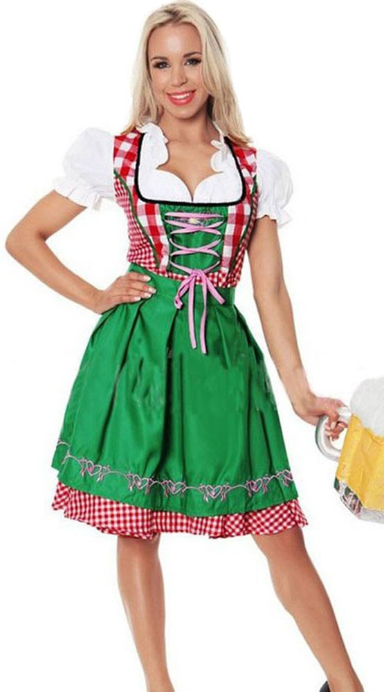 bayerisches dirndl oktoberfest kleidung damen gr n. Black Bedroom Furniture Sets. Home Design Ideas