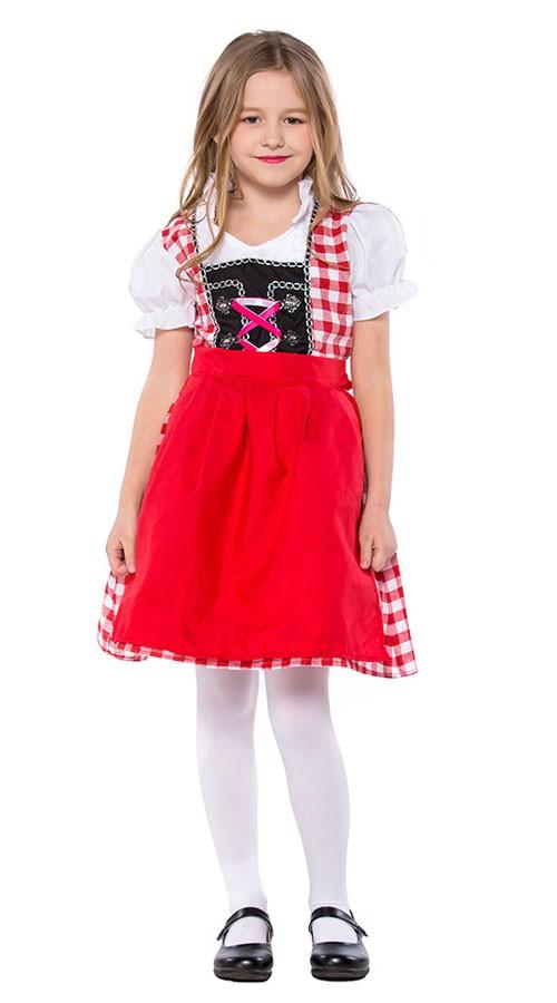 Rot Bayerische Oktoberfest Kleidung Kinder
