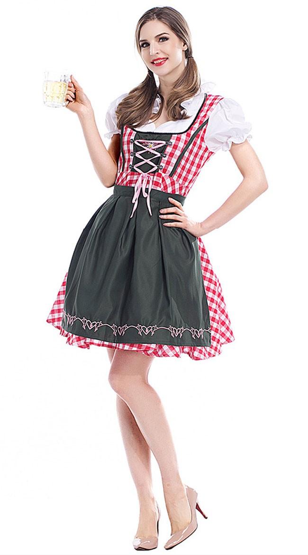 Traditionelles Midi Dirndl Oktoberfest Kleidung
