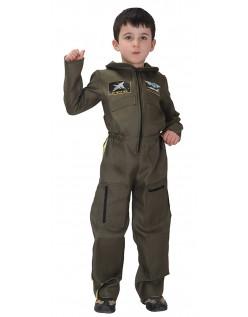 Kampfpilot Kostüm für Kinder Armeepilot Kinderkostüm