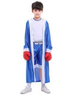 Boxer Kostüm für Kinder Blau