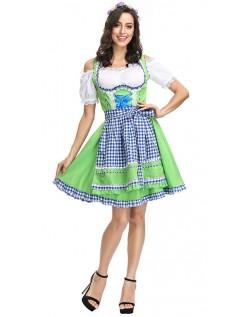 Traditionelle Bayerische Oktoberfest Kostüme Dirndl Heidi Kleid Grün