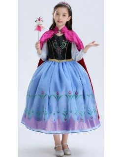 Deluxe Frozen Kostüme Anna Kleid Kinder