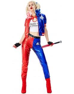 Halloween Suicide Squad Harley Quinn Kostüm Erwachsene Set