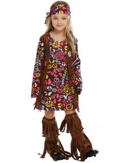 Karnevalskostüme Hippie Kostüm für Kinder