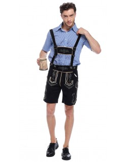 Bayerische Oktoberfest Lederhose Kostüm Schwarze Herren