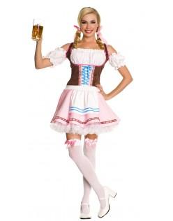 Dirndl Kleid Oktoberfest Kleidung Damen Rosa