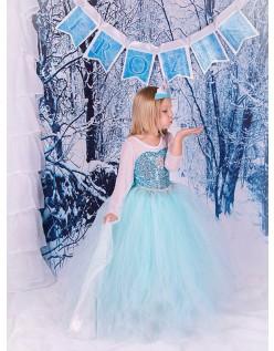 Mädchen Frozen Klassische Prinzessin Elsa Kleid