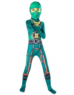 Grüne Jungen Ninjago Kostüm Halloween Ninja Kostüme für Kinder