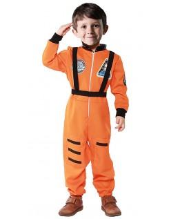 Astronauten Kostüm für Kinder Orange