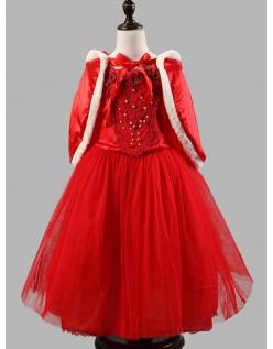 Winter Mädchen Fee Prinzessin Kleid Rot