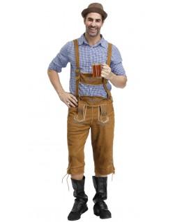Deluxe Bayerische Oktoberfest Lederhose Kostüm für Herren