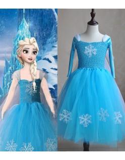 Deluxe Frozen Prinzessin Elsa Kostüm Mädchen Tutu Kleid