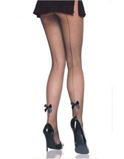 Schwarze Bunny Netzstrumpfhose Fischnetzstrümpfe