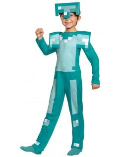Kinder Minecraft Diamant Rüstung Kostüm für Karneval Halloween