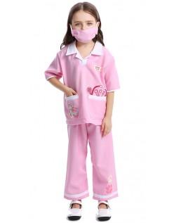 Kostüm Tierarzt für Kinder Arzt Krankenschwester Kostüm Rosa
