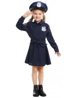 Kinder Polizei Kostüm Mädchen