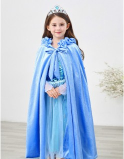 Winterkinder Frozen Prinzessin Elsa Kap Mit Kapuze Blau