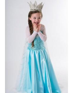 Blaues Elsa Eiskönigin Kostüm Kinder