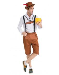 Trachtenhose Oktoberfest Lederhose Kostüm Herren