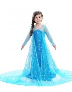 Pailletten Mädchen Frozen Elsa Kleid