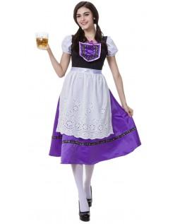 Bayerisches Trachtenkostüm Oktoberfest Kleid Lila