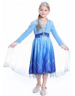 Klassische Kinder Frozen 2 Kostüme Elsa Kleid