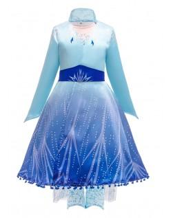 Frozen 2 Kleider Elsa Kostüm Kinder Prinzessinenkleid