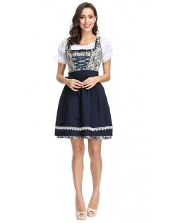 Damen Bayern Oktoberfest Kostüm Blumendirndlkleid