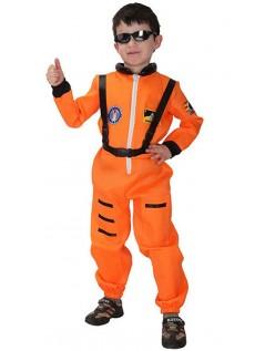 Kinder Nasa Astronauten Kostüm Orange