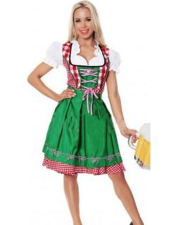 Bayerisches Dirndl Oktoberfest Kleidung Damen Grün