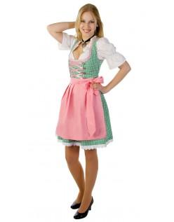 Oktoberfest Dirndl Kleidung Damen Grün Trachtenkleid