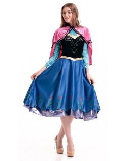 Winter Erwachsenen Frozen Anna Kleid Mit Umhang