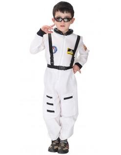 Kinder Nasa Astronauten Kostüm Weiß