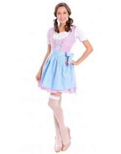 Trachtenkleid Oktoberfest Kleidung Damen Blau