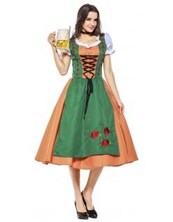 Trachtenkostüm Oktoberfest Kleidung Damen Grün