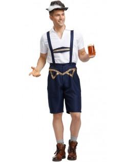 Herren Bayern Oktoberfest Lederhosen Kostüm für Erwachsene