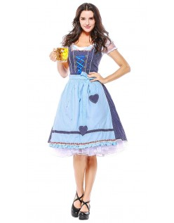 Vintage Oktoberfest Kleidung Dirndl Heidi Kleider