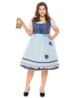 Vintage Oktoberfest Kleidung Große Größen Dirndl Heidi Kleid