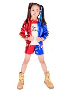 Drucken Suicide Squad Harley Quinn Kostüm Kinder Set