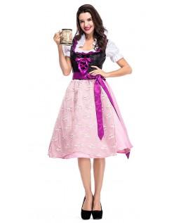 Dienerin Traditionelle Oktoberfest Kleidung Dirndlkleid