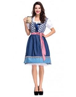 Oktoberfest Kleidung Bierkostüm Dirndl Trachtenkleid