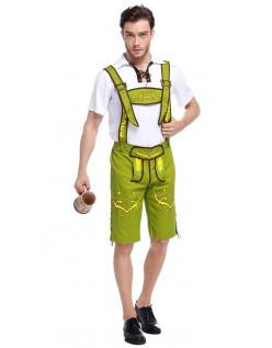 Bayern Oktoberfest Lederhose Kostüm Grün Herren