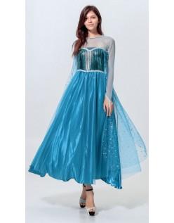 Pailletten Gefroren Prinzessin Elsa Kleid Für Erwachsene