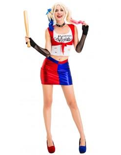 Damen Sexy Suicide Squad Harley Quinn Kostüm