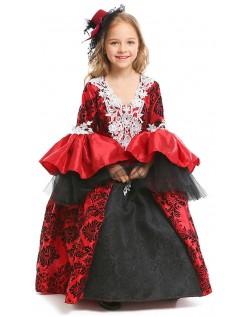 Gothic Deluxe Mädchen Vampir Kostüm Halloween Kostüme Kinder